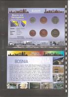 """Bosnia Erzegovina - Folder Bolaffi """"Monete Dal Mondo"""" Emissione Valori UNC - Bosnia And Herzegovina"""