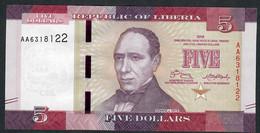 LIBERIA  P31 5 DOLLARS 2016 #AA UNC. - Liberia