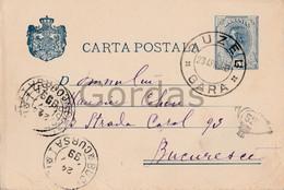 Romania - Buzau - 1899 - Stationery 5 Bani - Judaica - Cohen - Stampila Goarna 52 - Briefe U. Dokumente