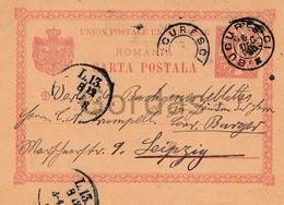 Romania - Bucuresti - 1895 - Stationery 10 Bani - Briefe U. Dokumente