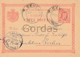 Romania - Turnu Severin - 1898 - Stationery 10 Bani - Briefe U. Dokumente
