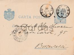 Romania - Bucuresti - 1898 - Stationery 5 Bani - Judaica - Cohen - Briefe U. Dokumente