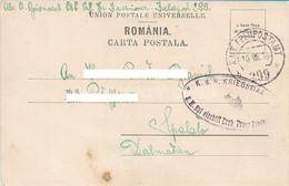 AK OLD POSTCARD WW1 AUSTRIA K.U.K. KRIEGSMARINE - S.M.S. ERZHERZOG FRANZ FERDINAND - ROMANIA - SINAIA - 1918 - Warships