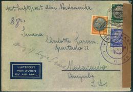 """1940, Luftpostbrief Ab HAMBURG 3 """"mit Luftpost über Nordamerika"""", Doppelzensur - Covers"""