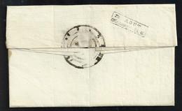 Maine Et Loire , Saumur , Cachet D'arrivée Rectangulaire Du 18 Août 1816 Sur Lettre De Doué La Fontaine - 1801-1848: Precursori XIX