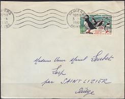 Macareux-Moines 30c Y.et T. 1274 Seul Sur Enveloppe De 09 PAMIERS Pour 09 LORP Le 3 4 1961  Oméc  R.B.V. 5.L.O. - 1961-....