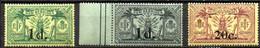 Nouvelles Hebrides : Yvert N° 62-64-65**; MNH - Unused Stamps