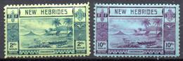 Nouvelles Hebrides : Yvert N° 121 Et 123* - Unused Stamps