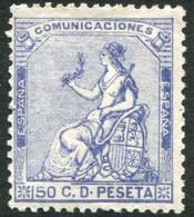 *137. 50 Cts Azul De 1873, Nuevo. - Nuevos