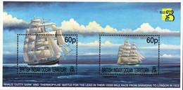 BIOT - 1999 - Shanghai To London Sailing Boat Race 1872 - Australia '99 World Stamp Expo - Mint Souvenir Sheet - Brits Indische Oceaanterritorium