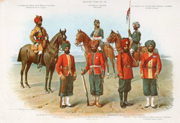A903 -TYPES OF THE INDIAN NATIVE ARMY BENGAL AIR INDIA POSTCARD - India
