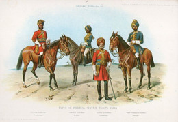 A904 - TYPES OF IMPERIAL SERVICE TROOPS INDIA  AIR INDIA POSTCARD - India