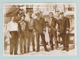 Mercator, Originele Foto Van  Laatste Bemanning En Officieren Op 03/07/1965, In De Haven Van Oostende - Oostende