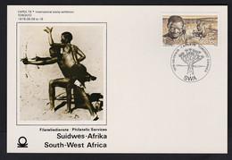 1978 SWA South West Africa Capex 78 Stamp Exhibition Toronto Card SWA Post Mark, 15c Bushmen Stamp - Cartas