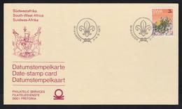 SWA South West Africa 1977 Windhoek Postmark 3c Succulents Stamp. Date Stamp Card - Cartas