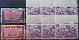 R2452/85 - 1944 - COLONIES FR. - TOGO - SERIE COMPLETE - N°228 à 235 NEUFS* - Nuovi