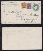 Canada 1927 Uprated Stationery Envelope MONTREAL To TROSSINGEN Germany - Cartas