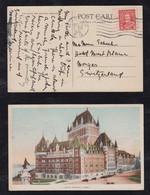 Canada 1936 Picture Postcard QUEBEC To MORGES Switzerland - Cartas