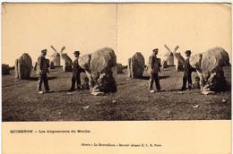 56 / QUIBERON - Les Alignements Du Moulin - Carte Stéréo - Quiberon