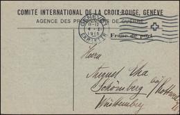 Kriegsgefangenpost Internationales Rotes Kreuz GENF 4.1.1915 Nach Schömberg - Covers