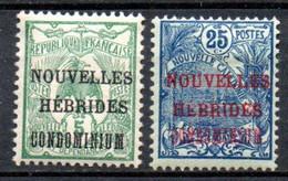Nouvelles Hebrides : Yvert N°15 Et 17* - Unused Stamps