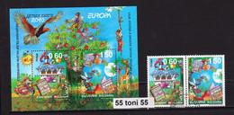 2010 EUROPE - Cept (children's Books - Folk Tales) 2v.+S/S- Used(O) BULGARIA / BULGARIE - Usados