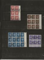 2L 4 BLOCS  DE TIMBRES PETAIN AVEC  CACHET ANNULATION Cachet Apposé Après La Démonétisation Décidée En 1944. - 1941-42 Pétain