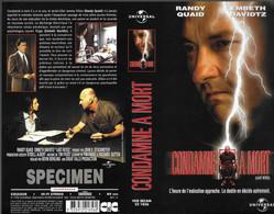 """""""CONDAMNE A MORT"""" -jaquette SPECIMEN Originale CIC VIDEO -last Rites - Crime"""