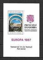 Andorra Episcopal Viguerie 1987 Europa MS MNH - Viguerie Episcopale