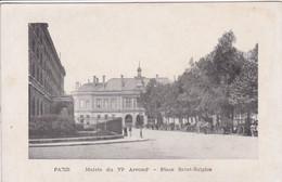 75 PARIS Mairie Du VI Arrondissement , Place Saint Sulpice , Attelage Calèche à L'ombre Des Arbres - Distrito: 06