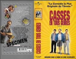 """""""CASSES EN TOUS GENRES"""" -jaquette SPECIMEN Originale CIC VIDEO -safe Men - Crime"""