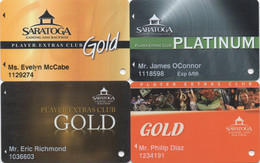 Lot De 4 Cartes : Saratoga Gaming And Raceway Casino : Saratoga Springs NY - Casino Cards