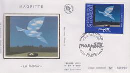 Enveloppe  FDC  1er  Jour    FRANCE    Oeuvre  De  MAGRITTE   1998 - 1990-1999