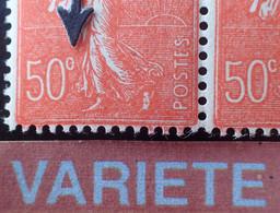 """R1491/68- 1924/1932 - FRANCE - TYPE SEMEUSE LIGNEE - (PAIRE) N°199k Tàn TIMBRES NEUFS** - BELLE VARIETE ➤➤➤ """" C """" Fermé - Variétés: 1921-30 Neufs"""