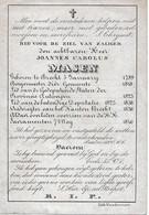 Masen J.c.  (burgemeester Brecht 1789 - 1846) - Religion & Esotericism