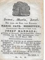 Missotten M.c. (overpelt 1770 -1833) - Religion & Esotericism