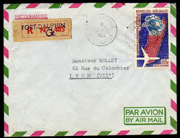 Madagascar 1964 Registered Cover To France. - Non Classés