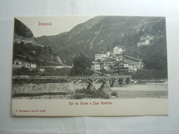 PERAROLO COL DE ZORDO E CASE RUSTICHE PONTE PIAVE 1910 - Belluno