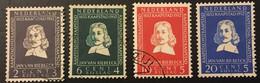 Pays Bas Niederlande Holanda 1952 578 579 580 581  ; Van Riebeeck Zegels - Used Stamps