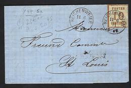 FRANCE Alsace-Lorraine 1871: LAC De Reichenweier Pour St Louis Avec Y&T 5a, Obl. CAD Allemand - Elzas-Lotharingen