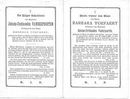 Vanderpoorten J.f. --Toetaert Barbara ( Gent 1816 -1883 --- 1812 -1883) - Religion & Esotericism