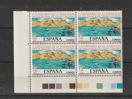 España. Esquina De 4 Sellos Nuevos. Edifil  N ° 2479. 1978. V Centenario De La Fundacion De Las Palmas De Gran Canaria. - 1971-80 Nuevos & Fijasellos