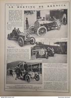 1907 LE MEETING DE BRESCIA - LA COUPE FLORIO - MINOÏA - CAGNO - FOURNIER - DEMOGEOT - AIROLDI - HÉMERY - Sin Clasificación