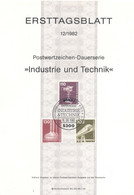 Allemagne 1982 - Michel N. 1134/35-38 - Série Courante (Y & T N. 966/68) - FDC: Feuilles