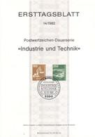 Allemagne 1982 - Michel N. 1136/37 - Série Courante (Y & T N. 972/73) - FDC: Feuilles