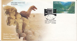 India  2009  Dinosaur Eggs Hatching Site  Sir Richard Owen  Special Cover   #  31882  D    Inde  Indien - Preistorici