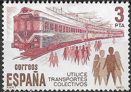 SPAIN 1980 Public Transport - 3p - Electric Train MNG - 1971-80 Nuevos & Fijasellos
