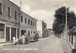 QUINTO DI TREVISO-TREVISO-VIA GUGLIELMO CIARDI-VESPA PIAGGIO TRE RUOTE(-CARTOLINA VERA FOTOGRAFIA-VIAGGIATA IL  7-8-1957 - Treviso