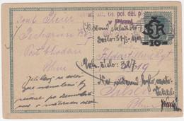1919 Czechoslovakia Pechgrün, Smolnice, Chodov 1919 (Sokolov)- Plzen, Feldpost, Fieldpost (A05240) - Postales