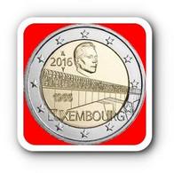 WC - Luxembourg 2 Euro 2016Commemorative 50 Years Of Grand Duchess Charlotte Bridge - UNC - Luxembourg
